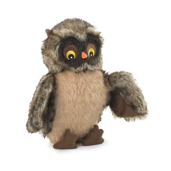 Ancol Heavy Realistic Owl Like Comforter Puppy Dog Toy