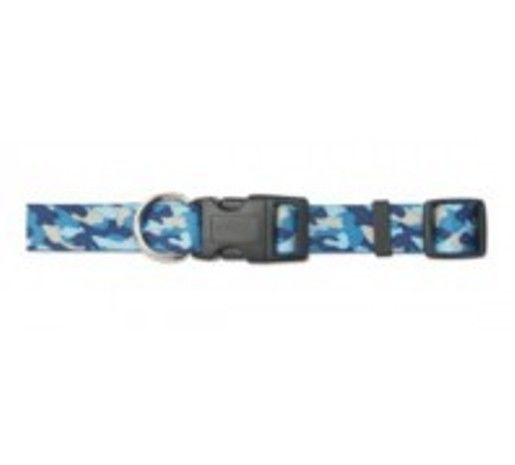 "BLUE CAMOUFLAGE DOG COLLAR ANCOL SIZE 1-2 14"" SPECIAL OFFER INCLUDES FREE ID TAG"