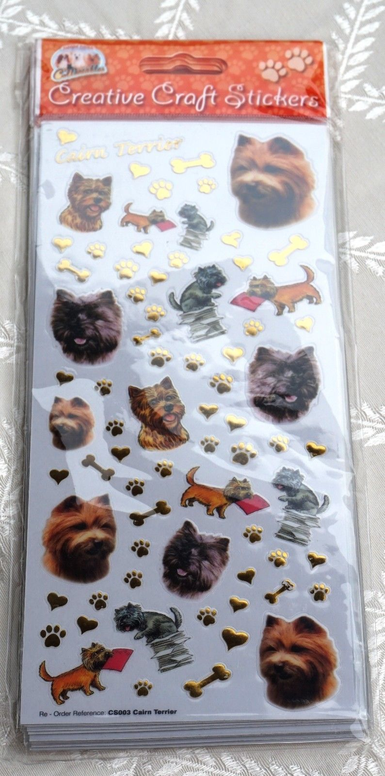 CAIRN TERRIER - CRAFT STICKERS FOR SCRAPBOOKING, CARD CRAFT ETC