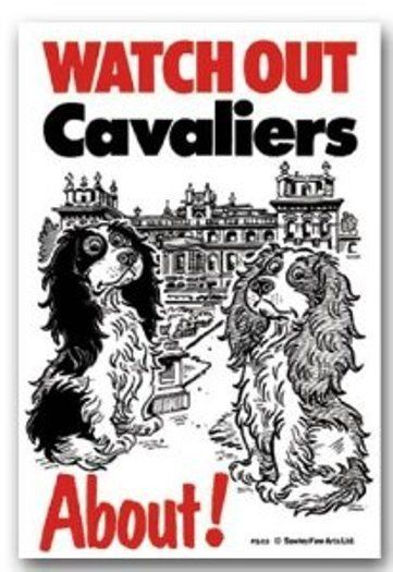 CAVALIERS ABOUT DOG SIGN - PALACE