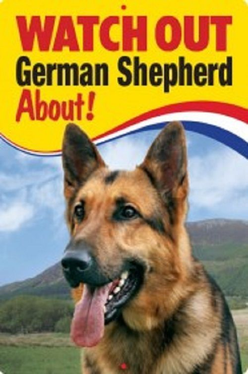 GERMAN SHEPHERD  3D  DOG SIGN (watch out)
