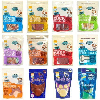 Good Boy Pawsley & Co Natural Deli Dog Treats Snacks - Choose Flavour & Pack Size (Crunchy Chicken & Calcium Bones,