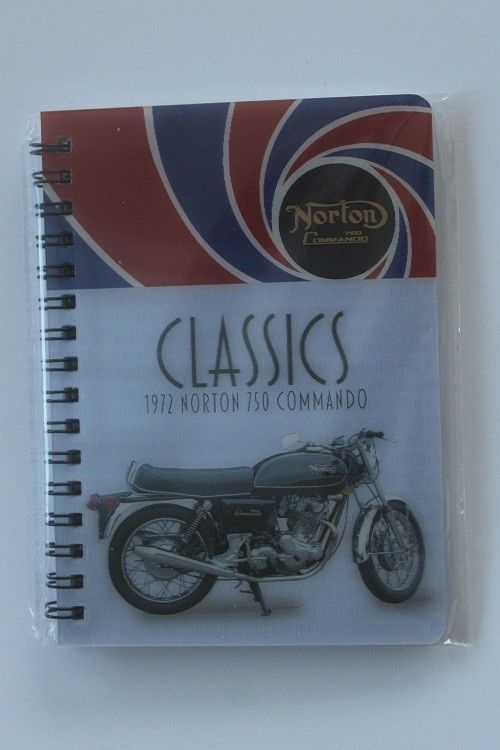 Norton Cammando Motor Cycle 3D picture on a Notebook