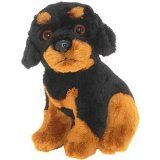 Rottweiler soft and cuddly pocket toy 6.5""