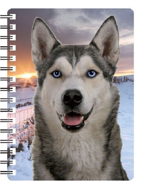 Siberian Husky 3D Notebook