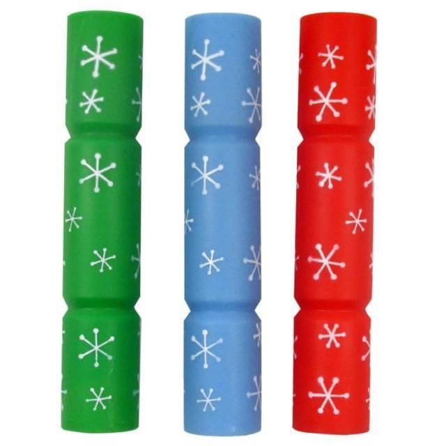 SQUEAKY DOG CHRISTMAS CRACKER FESTIVE GOOD BOY CRACKER TWO SIZES THREE COLOURS