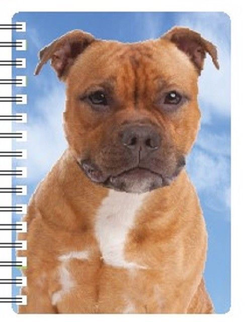 Staffordshire Bull Terrier (Brindle) 3D Notebook