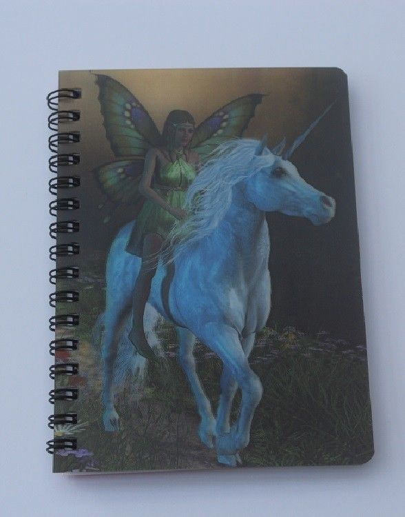 Unicorn with Fairy rider 3D Notebook