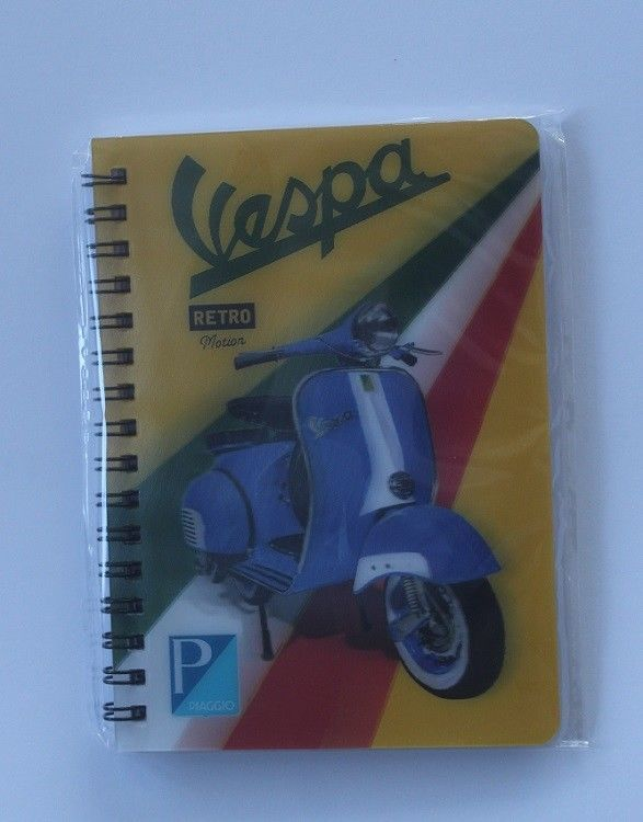 Vespa Classic Scooter 3D picture on a Notebook