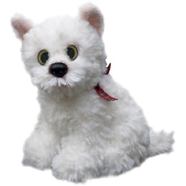 "West Highland Terrier puppy dog sitting Cuddly toy 6.5"" pocket toy westie"