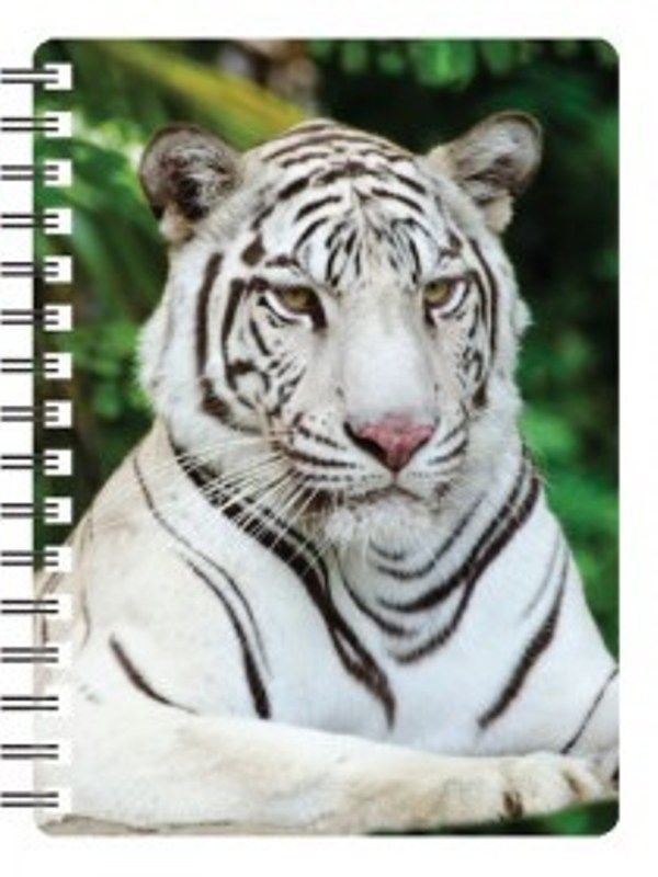 White Tiger 3D Notebook