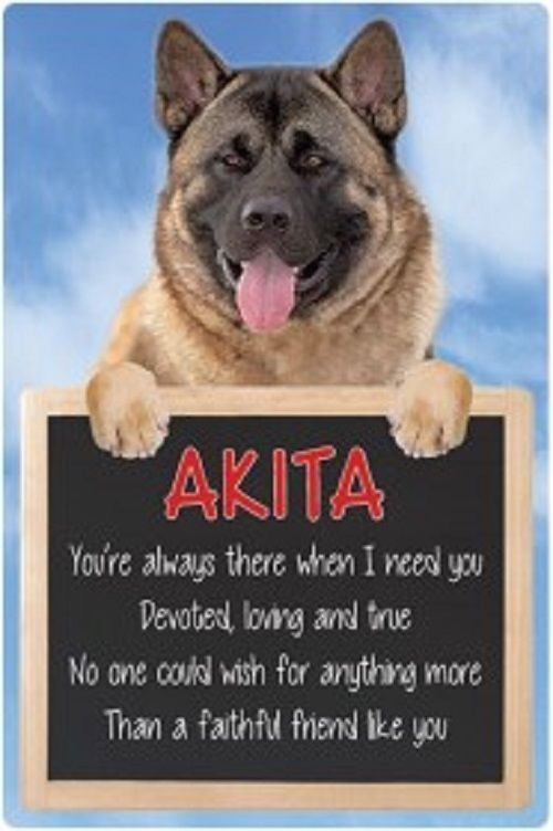 Akita 3D home hang up sign