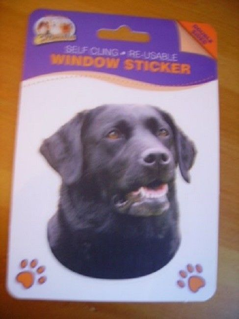 BLACK LABRADOR DOUBLE SIDED WINDOW STICKER