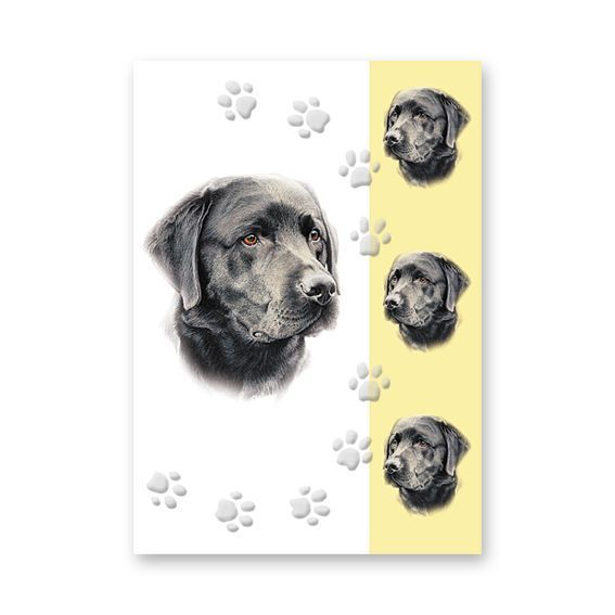 BLACK LABRADOR GREETINGS CARD