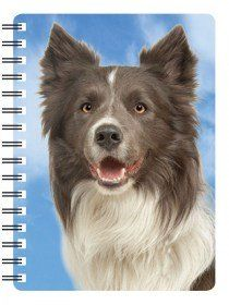 Border Collie 3D notebook Tri colour