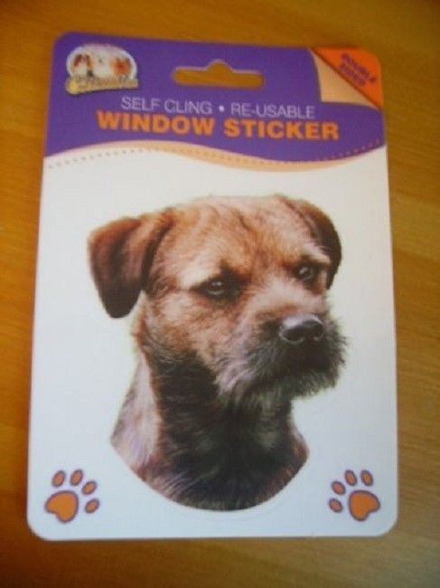 BORDER TERRIER  DOUBLE SIDED WINDOW STICKER