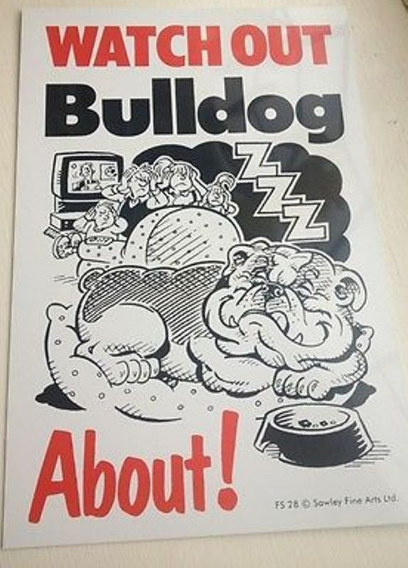 BULLDOG ABOUT - SIGN