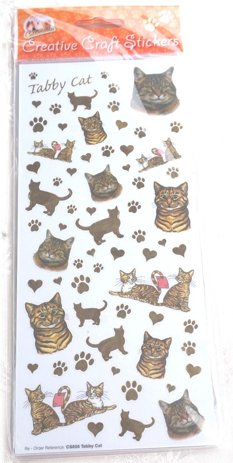 CAT - TABBY CAT - SCRAPBOOKING CARD CRAFT ETC
