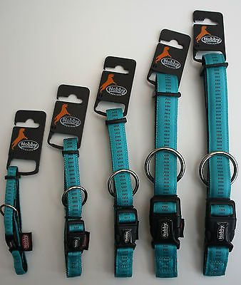 CUSHIONED SOFT DOG COLLARS AND LEADS TURQUOISE SMALL-LARGE + FREE ENGRAVED TAG