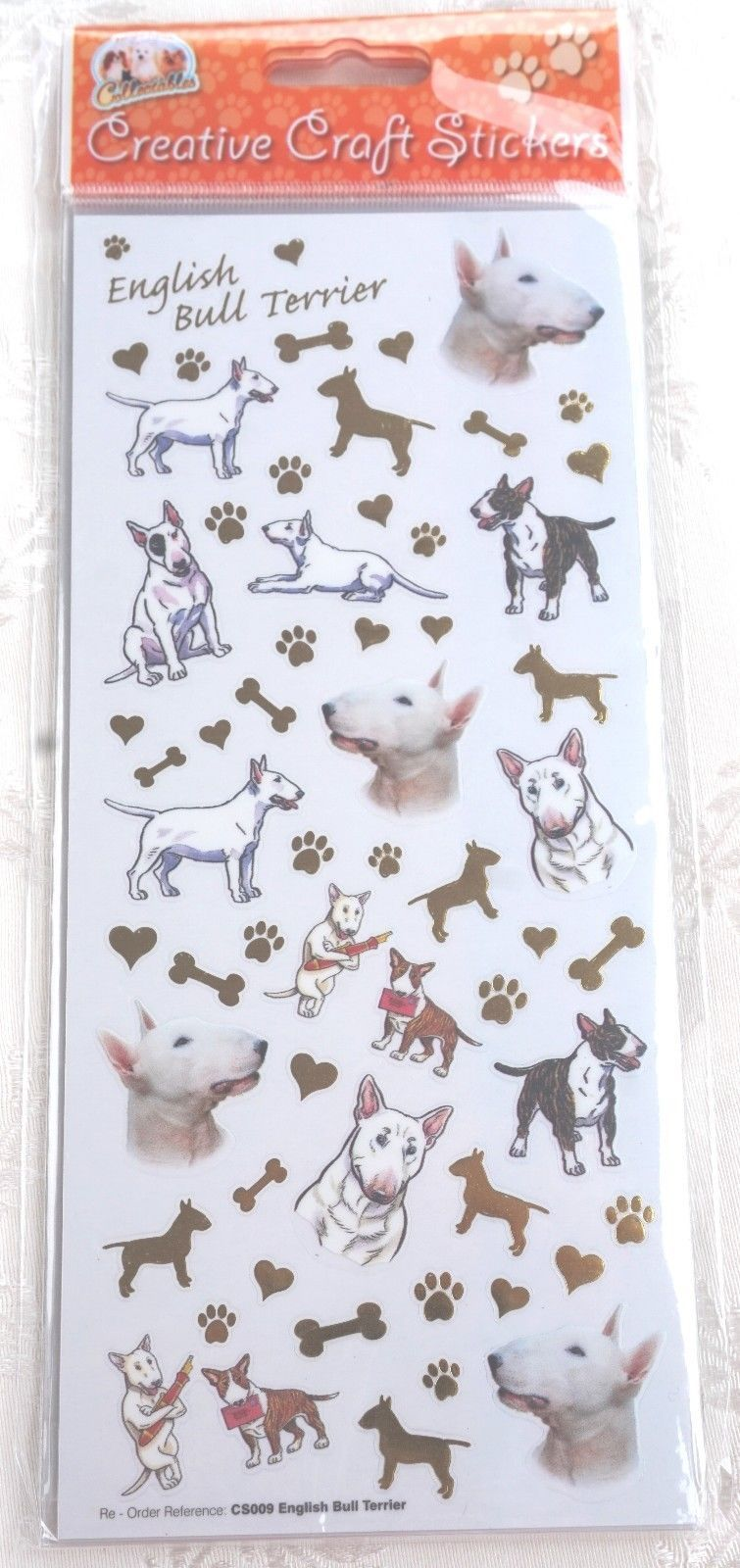 ENGLISH BULL TERRIER CARD CRAFT STICKERS SCRAPBOOKING
