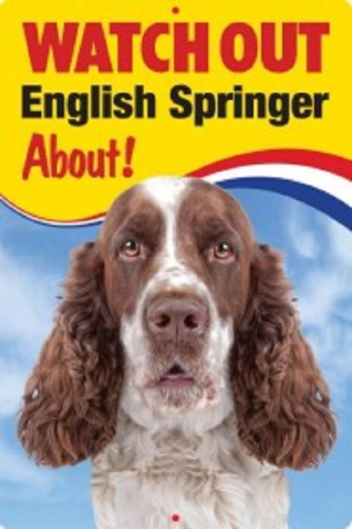 ENGLISH SPRINGER SPANIEL 3D  DOG SIGN