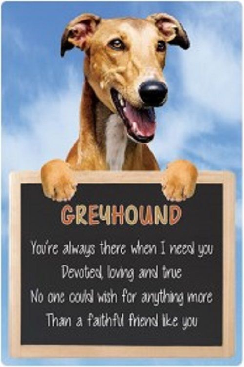 Greyhound 3D home hang up sign