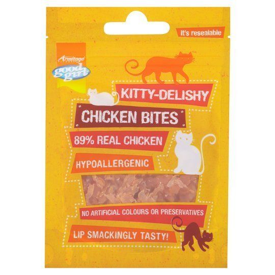 KITTY DELISHY REAL MEAT CAT TREATS GOOD GIRL CHICKEN BITES