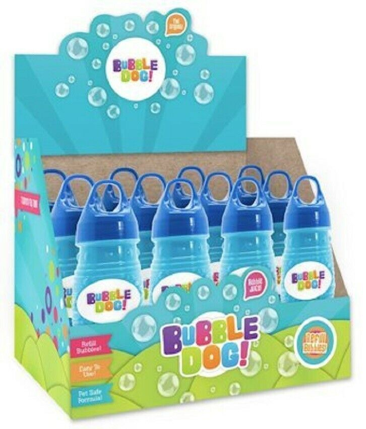 Peanut Butter Scented Bubble Solution For Dog Bubble gun box of twelve
