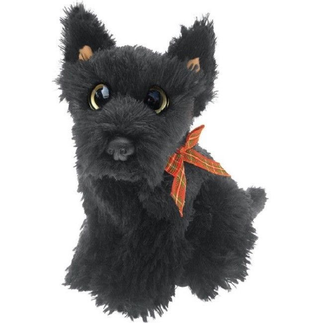 "Scottish Terrier puppy dog sitting Cuddly toy 6.5"" Scottie"
