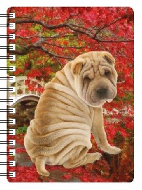 SHAR PEI 3D NOTEBOOK, PAD ORGANISER ADDRESS BOOK