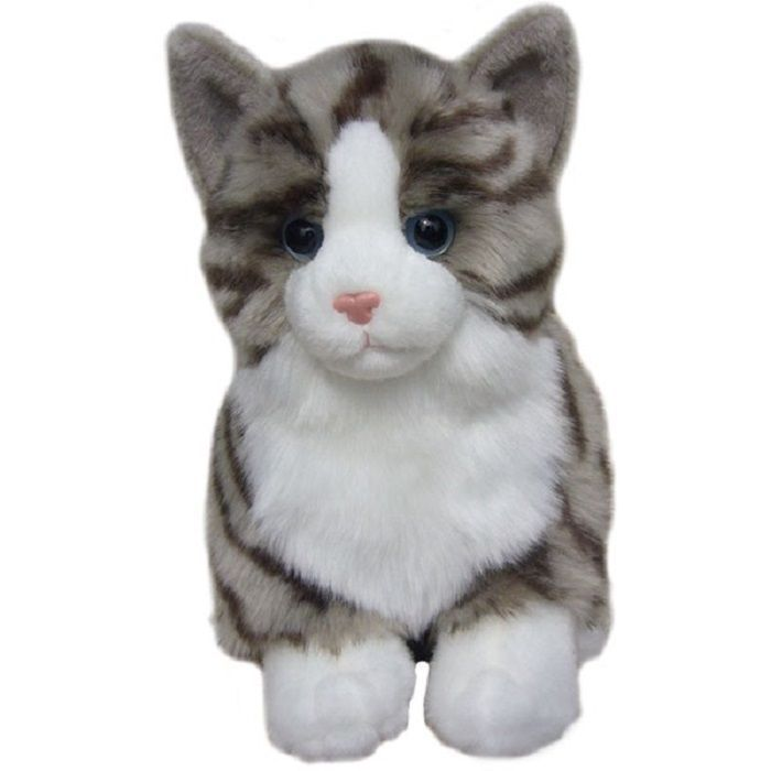 Tabby Cat Cuddly toy 12""