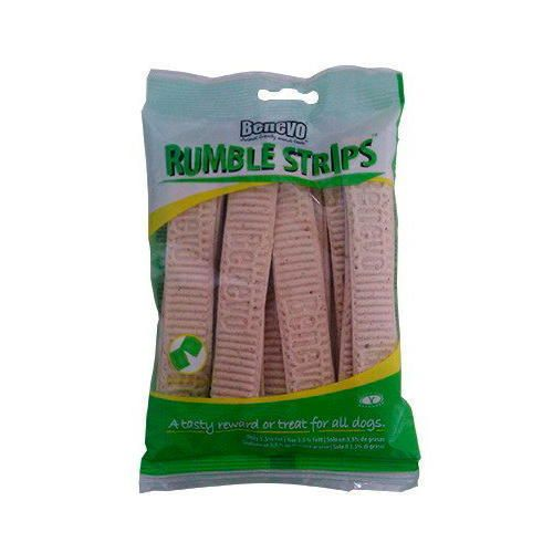 VEGAN DOG TREATS BENEVO RUMBLE STRIPS NO DAIRY, FISH, MEAT, EGGS OR SOYA