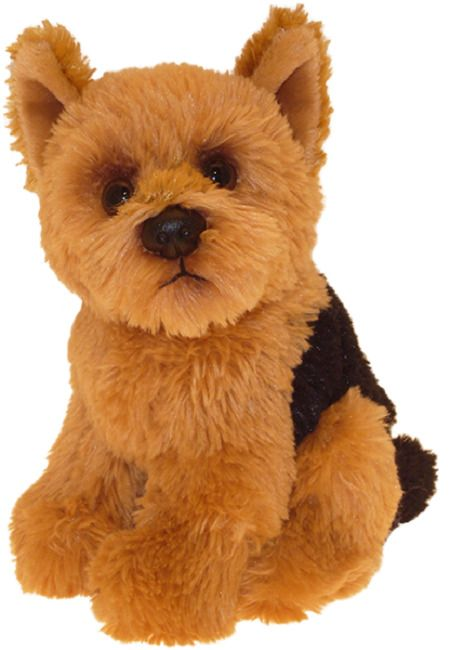"Yorkshire Terrier puppy dog sitting Cuddly toy 6.5"" Yorkie"